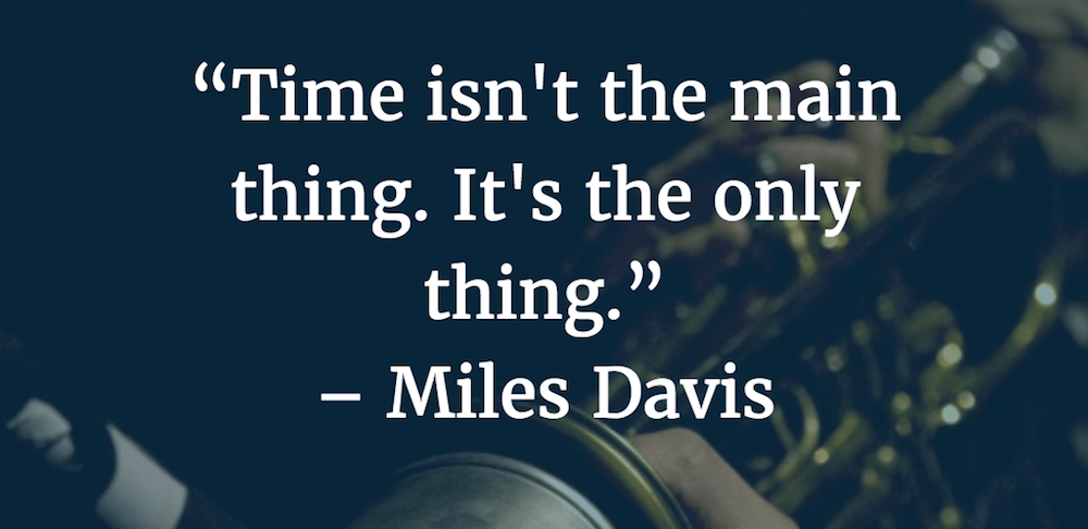Time is the only thing.